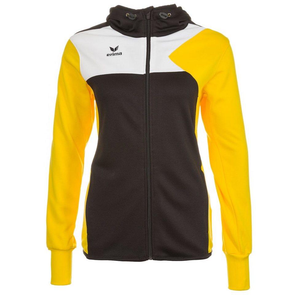 ERIMA Premium One Trainingsjacke mit Kapuze Damen in schwarz/gelb/weiß