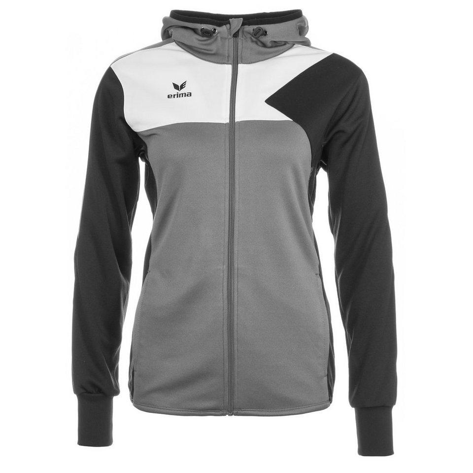 ERIMA Premium One Trainingsjacke mit Kapuze Damen in granit/schwarz/weiß