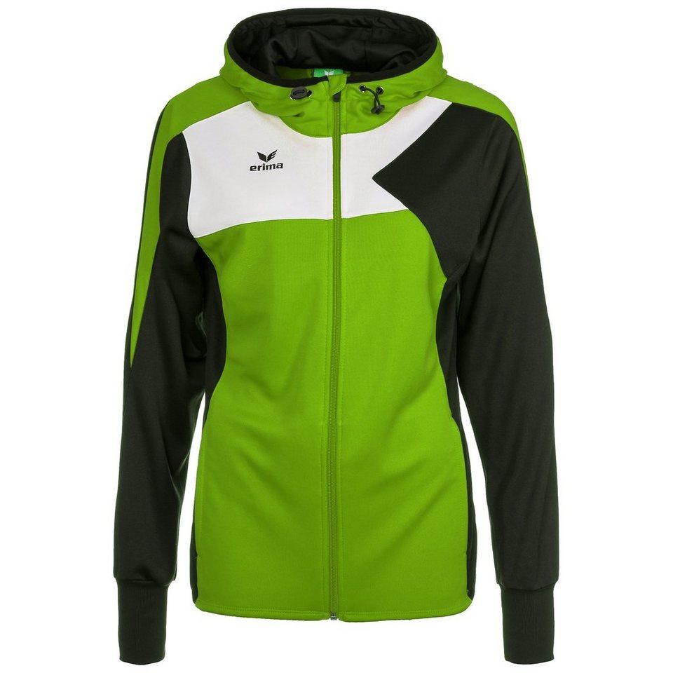 ERIMA Premium One Trainingsjacke mit Kapuze Damen in green/schwarz/weiß