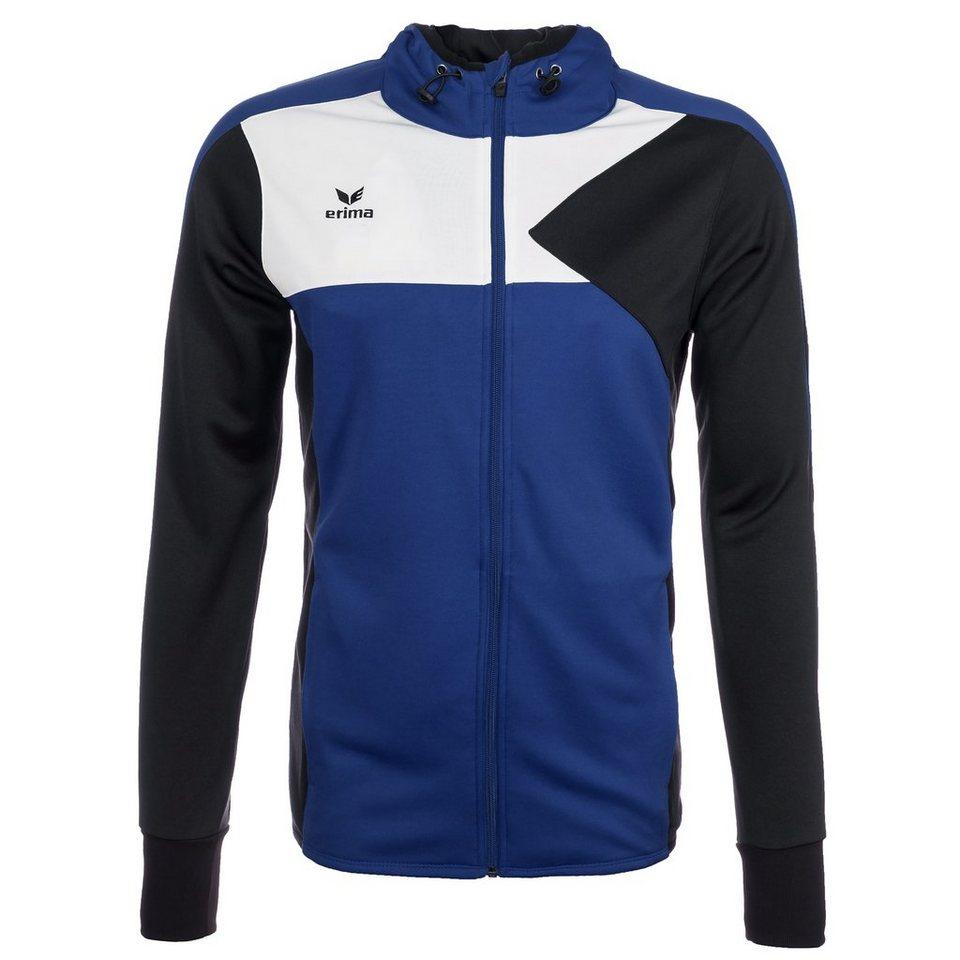 ERIMA Premium One Trainingsjacke mit Kapuze Kinder in new royal/schwarz