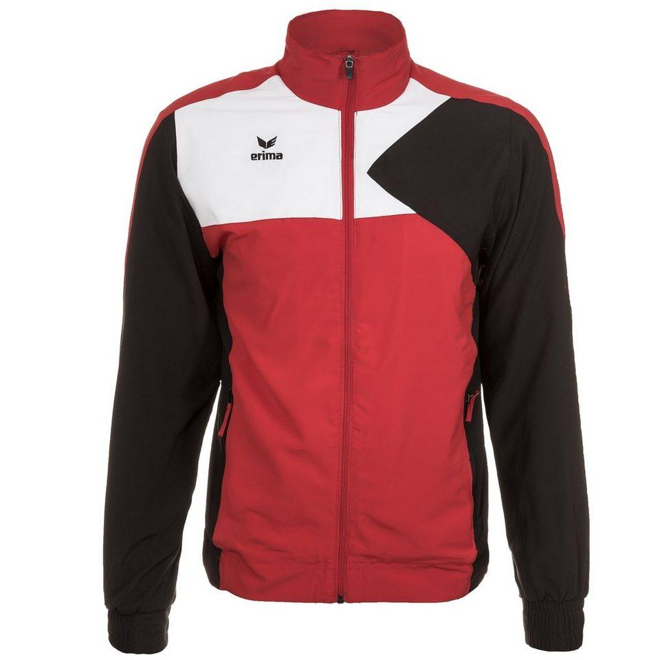 ERIMA Premium One Trainingsjacke mit Kapuze Kinder in weiß/schwarz/orange