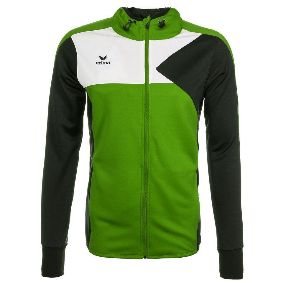 ERIMA Premium One Trainingsjacke mit Kapuze Kinder in green/schwarz/weiß