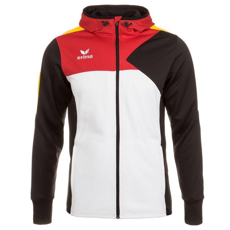 ERIMA Premium One Trainingsjacke mit Kapuze Kinder in weiß/schwarz/rot