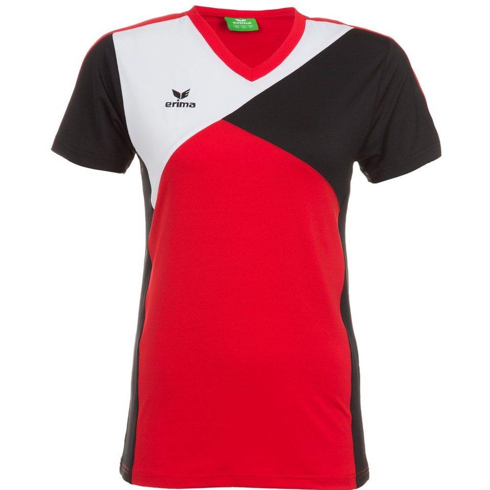 ERIMA Premium One T-Shirt Damen in rot/schwarz/weiß
