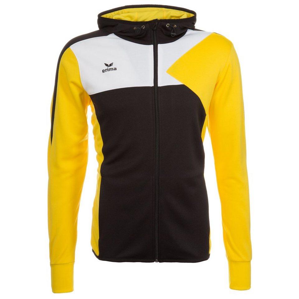 ERIMA Premium One Trainingsjacke mit Kapuze Kinder in schwarz/gelb/weiß