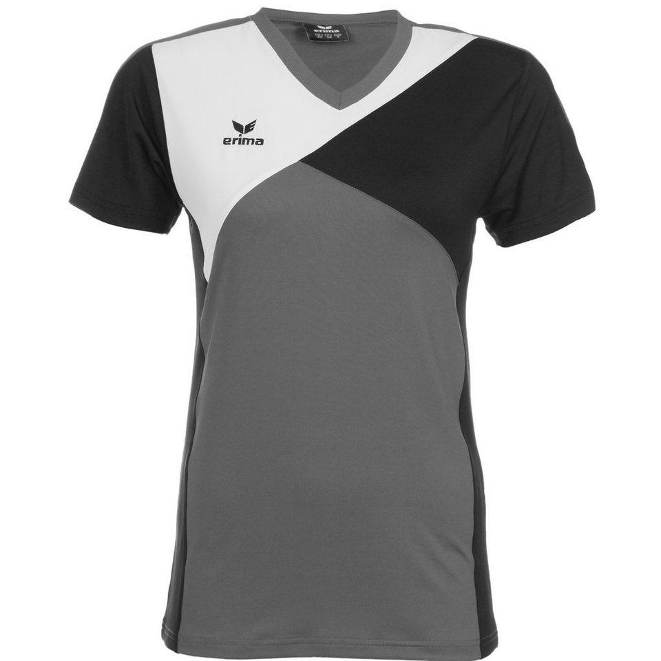 ERIMA Premium One T-Shirt Damen in granit/schwarz/weiß