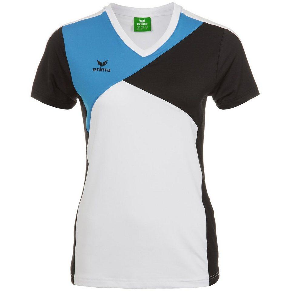 ERIMA Premium One T-Shirt Damen in weiß/schwarz/curacao