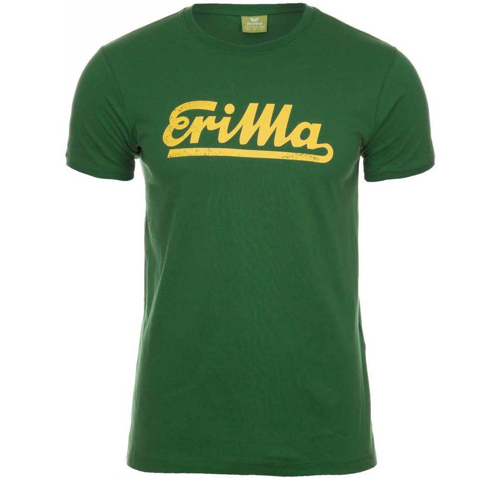ERIMA Retro T-Shirt Kinder in smaragd/gelb
