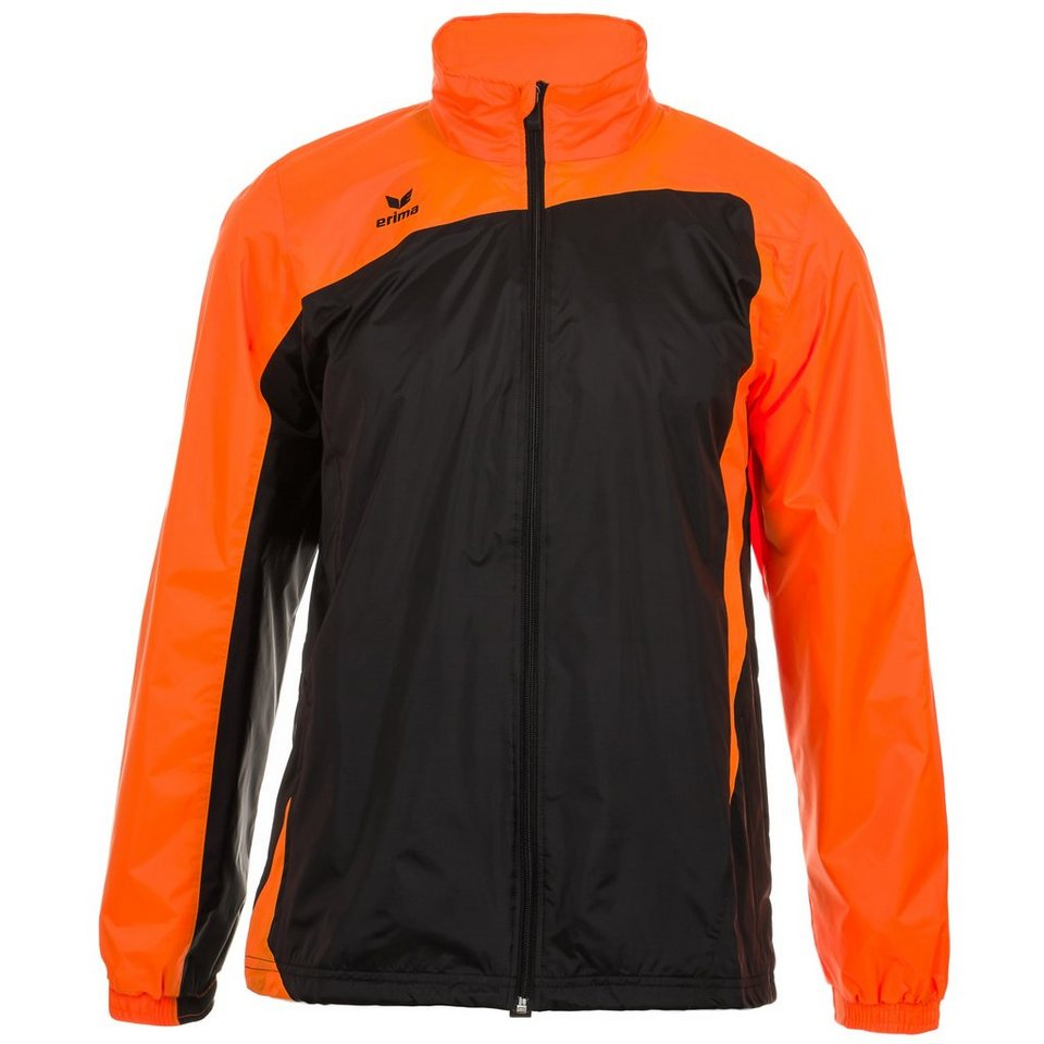 ERIMA CLUB 1900 Regenjacke Kinder in schwarz/neon orange