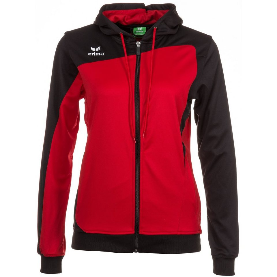 ERIMA Club 1900 Trainingsjacke mit Kapuze Damen in rot/schwarz