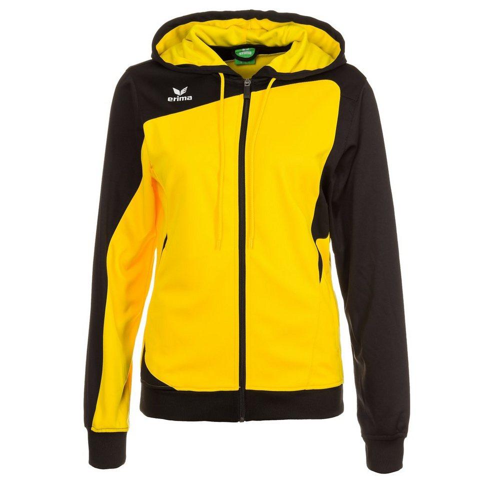 ERIMA Club 1900 Trainingsjacke mit Kapuze Damen in gelb/schwarz
