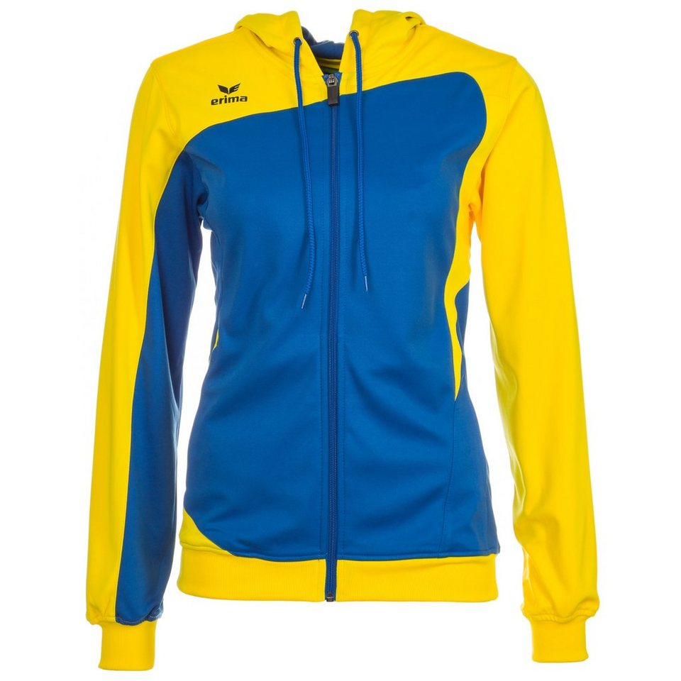 ERIMA Club 1900 Trainingsjacke mit Kapuze Damen in new royal/gelb