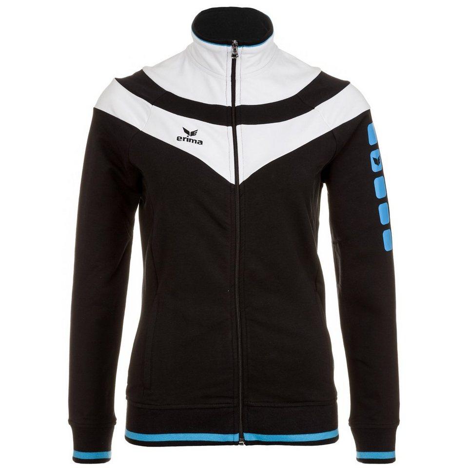 ERIMA 5-CUBES Fashion Jacke Damen in schwarz/weiß/curacao