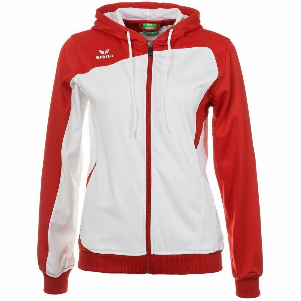 ERIMA Club 1900 Trainingsjacke mit Kapuze Damen in weiß/rot