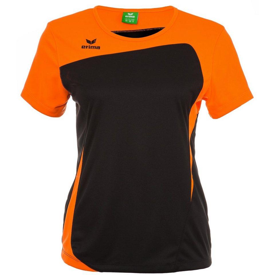 ERIMA CLUB 1900 T-Shirt Damen in schwarz/neon orange