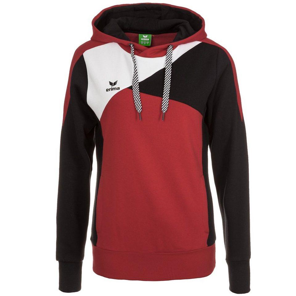 ERIMA Premium One Hoodie Damen in rot/schwarz/weiß