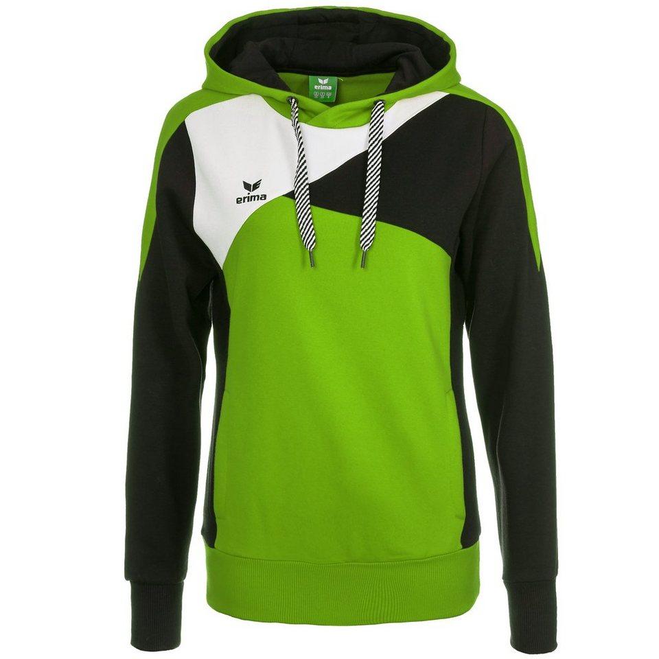 ERIMA Premium One Hoodie Damen in green/schwarz/weiß