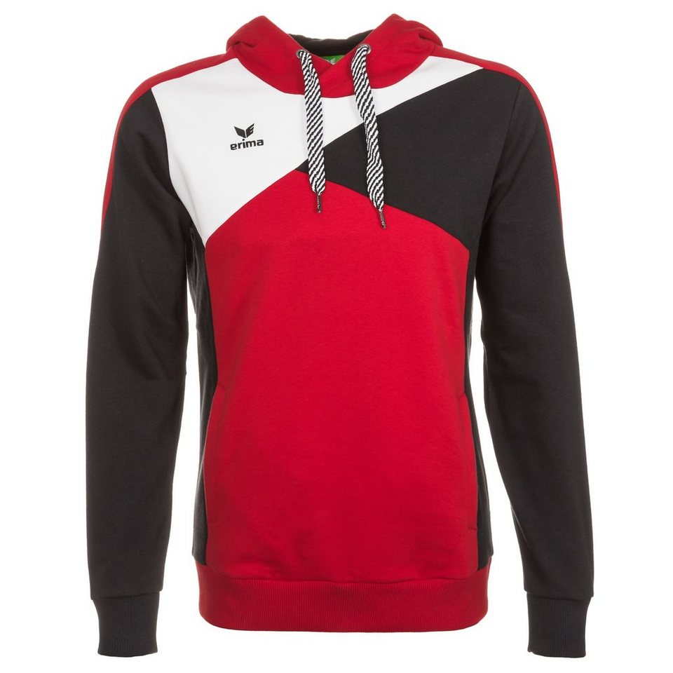 ERIMA Premium One Hoodie Herren in rot/schwarz/weiß