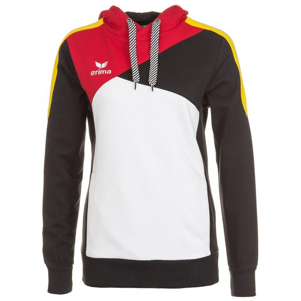ERIMA Premium One Hoodie Damen in weiß/schwarz/rot