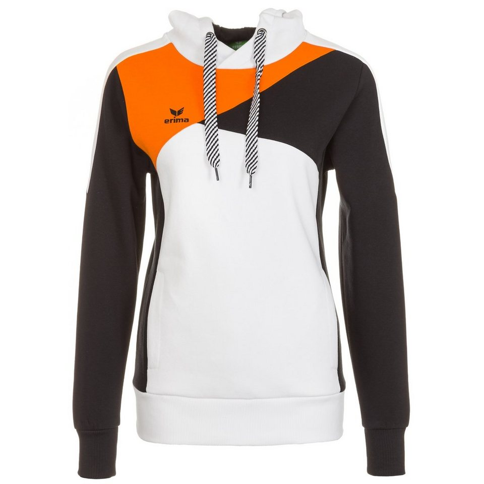 ERIMA Premium One Hoodie Damen in weiß/schwarz/orange