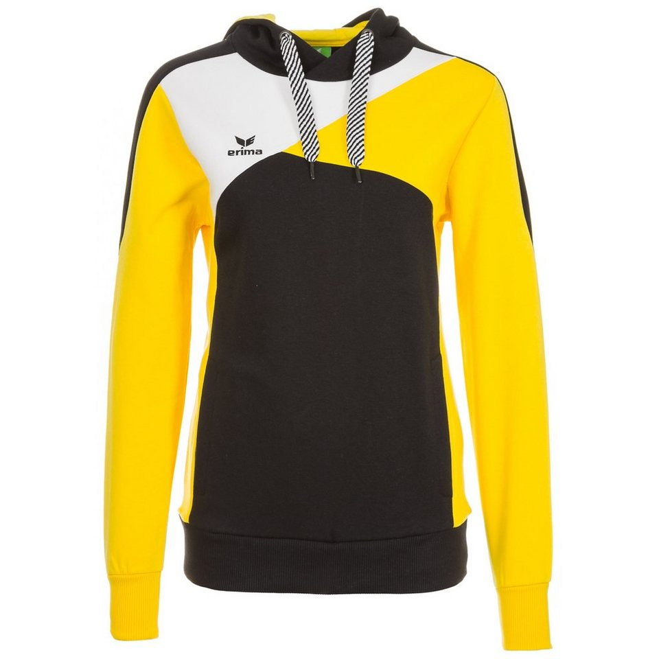 ERIMA Premium One Hoodie Damen in schwarz/gelb/weiß