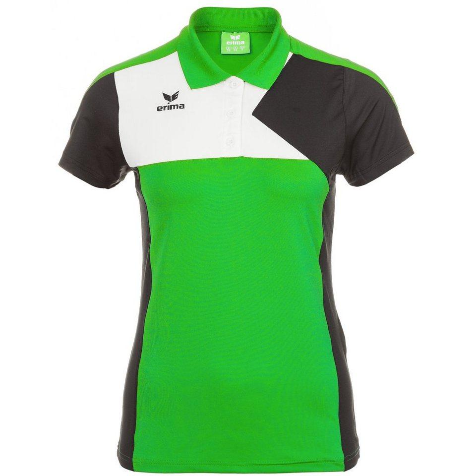 ERIMA Premium One Poloshirt Damen in green/schwarz/weiß