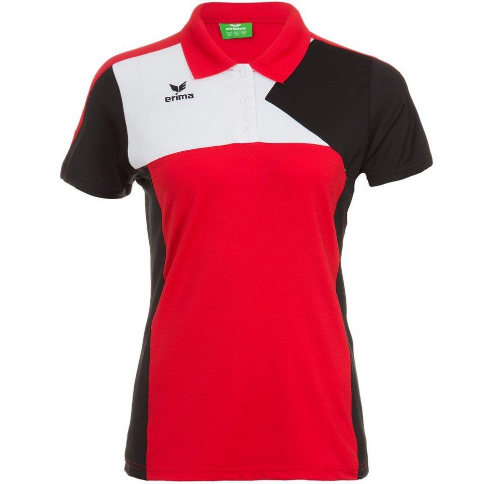 ERIMA Premium One Poloshirt Damen in rot/schwarz/weiß
