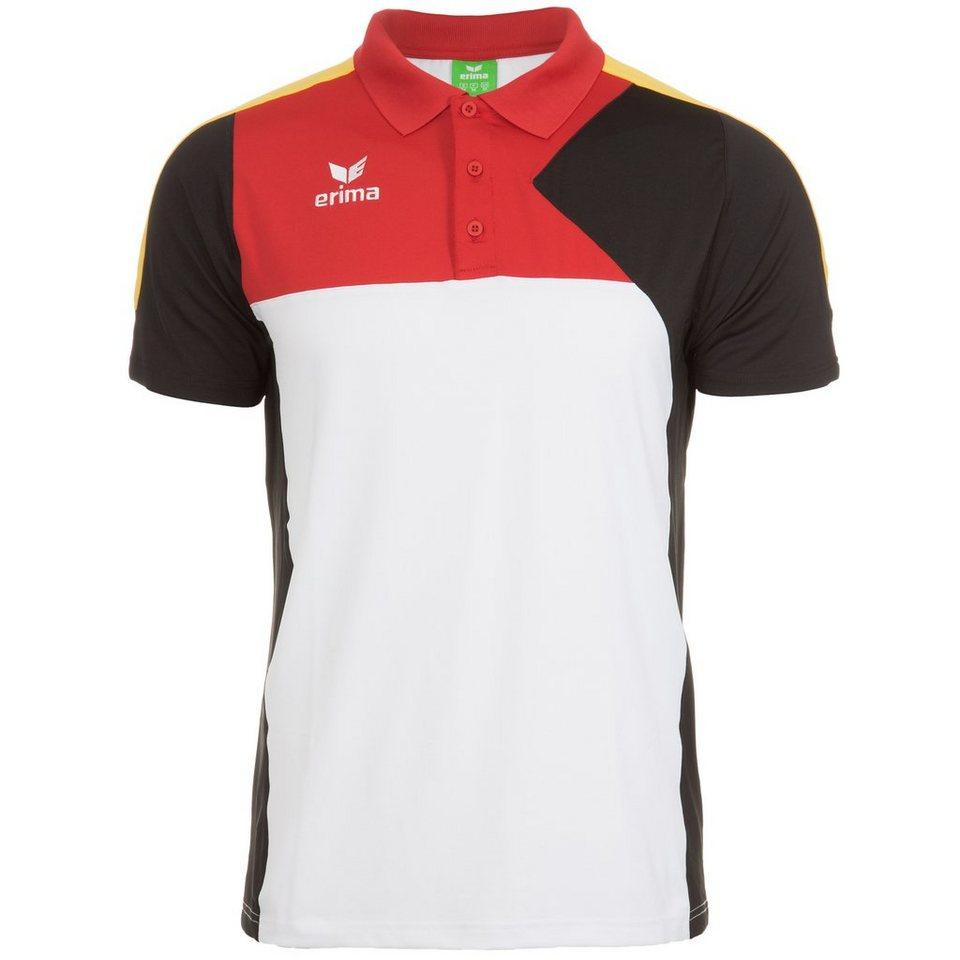 ERIMA Premium One Poloshirt Herren in weiß/schwarz/rot