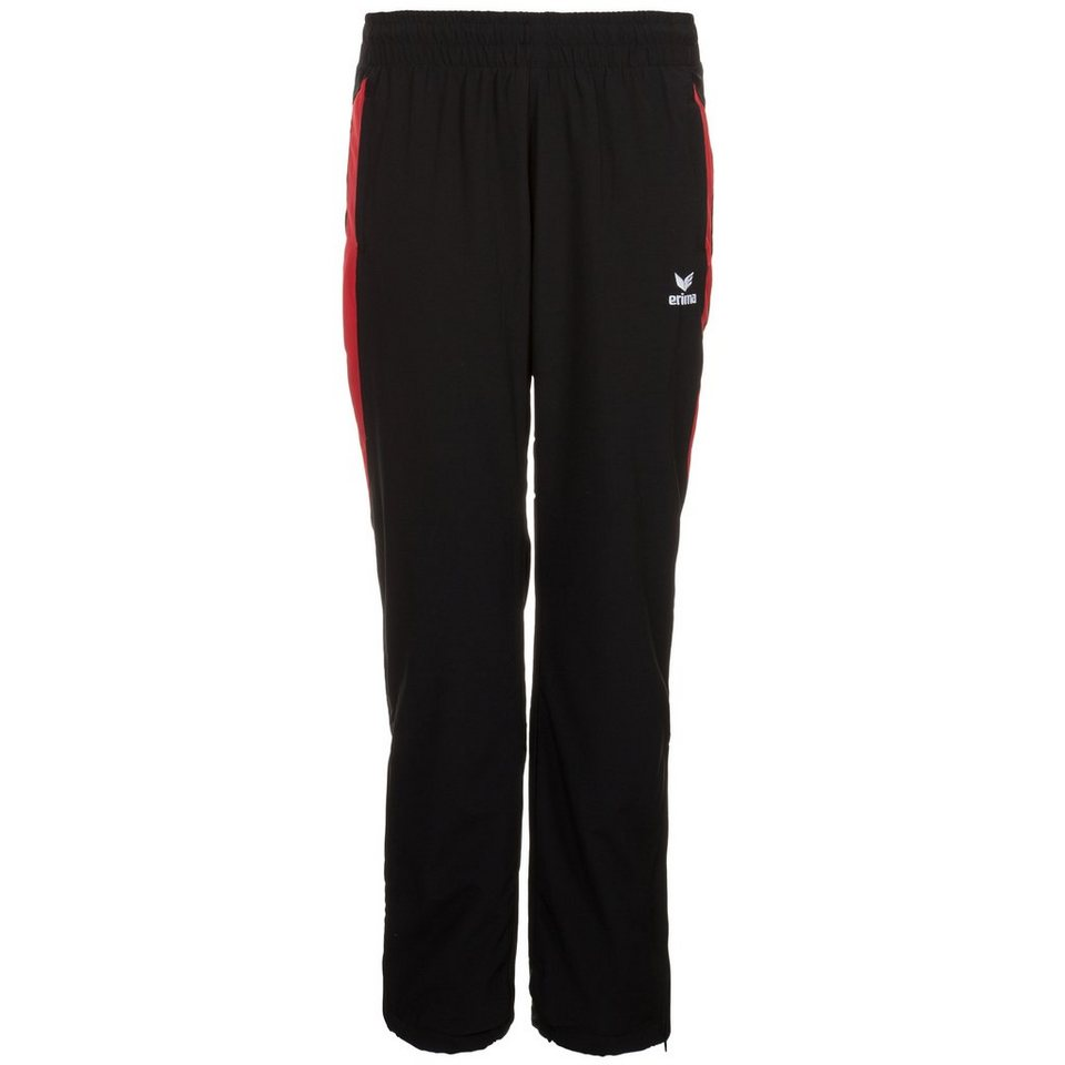 ERIMA Premium One Präsentationshose Damen in schwarz/rot