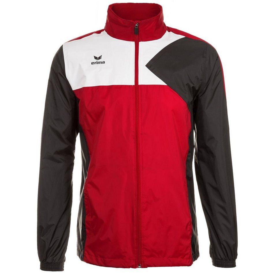 ERIMA Premium One Regenjacke Herren in rot/schwarz/weiß