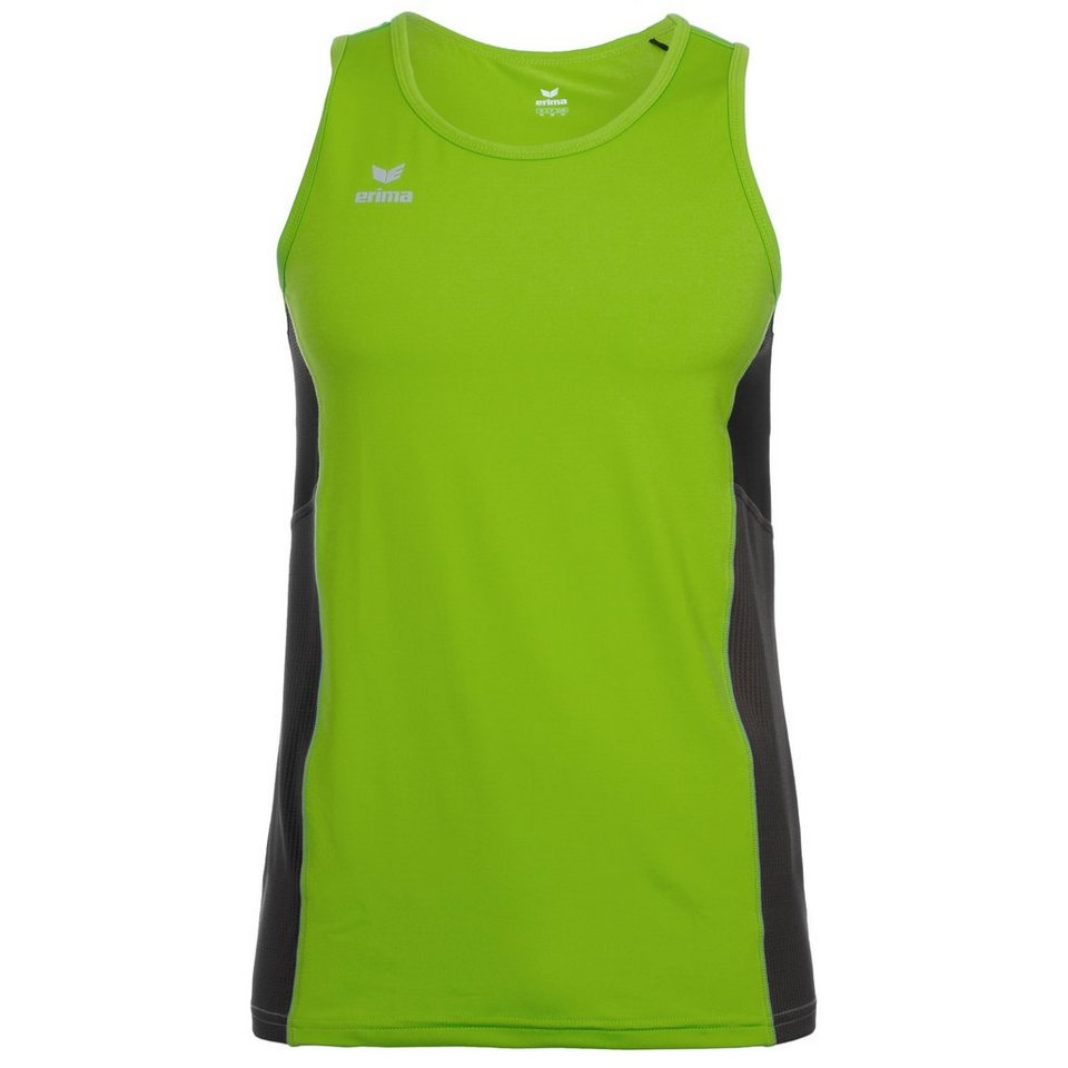 ERIMA Premium One Running Singlet Kinder in green/schwarz