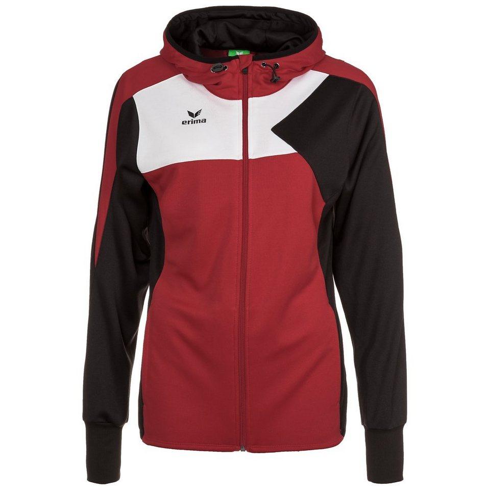 ERIMA Premium One Trainingsjacke mit Kapuze Damen in rot/schwarz/weiß