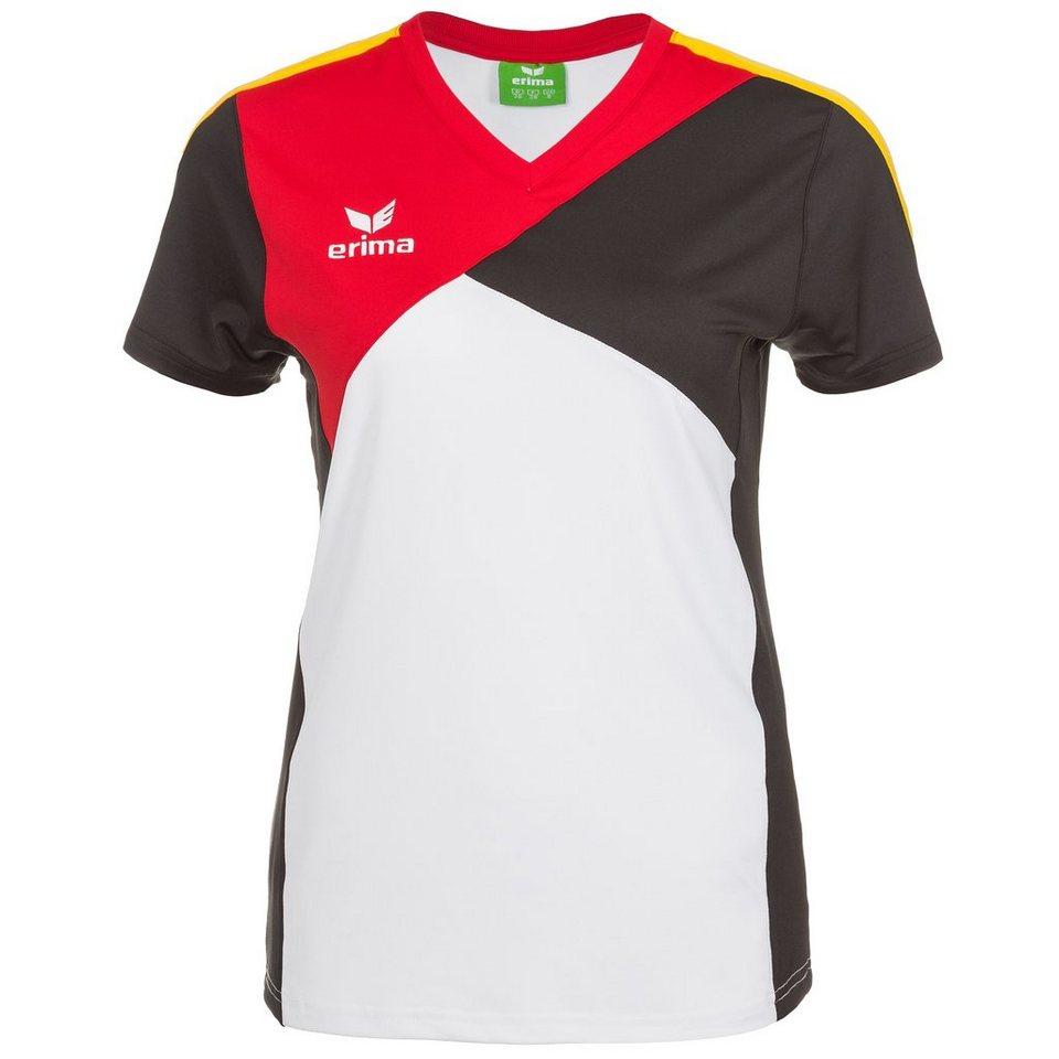 ERIMA Premium One T-Shirt Damen in weiß/schwarz/rot
