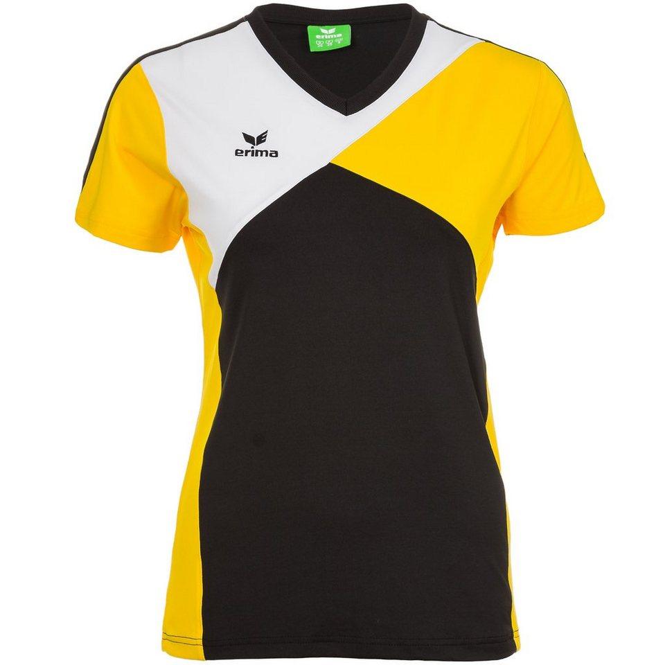ERIMA Premium One T-Shirt Herren in schwarz/gelb/weiß