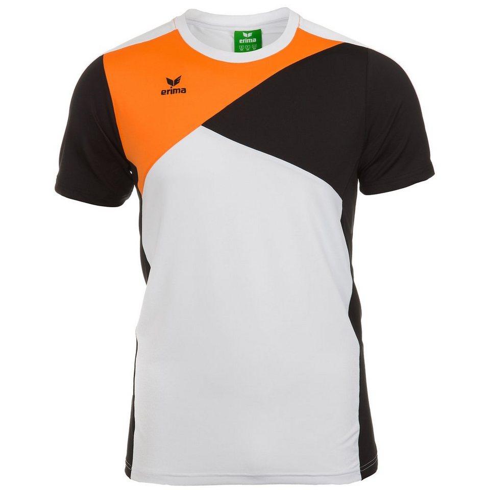 ERIMA Premium One T-Shirt Herren in weiß/schwarz/orange