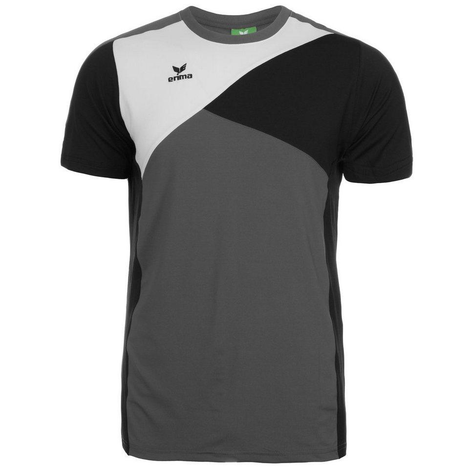 ERIMA Premium One T-Shirt Herren in granit/schwarz/weiß