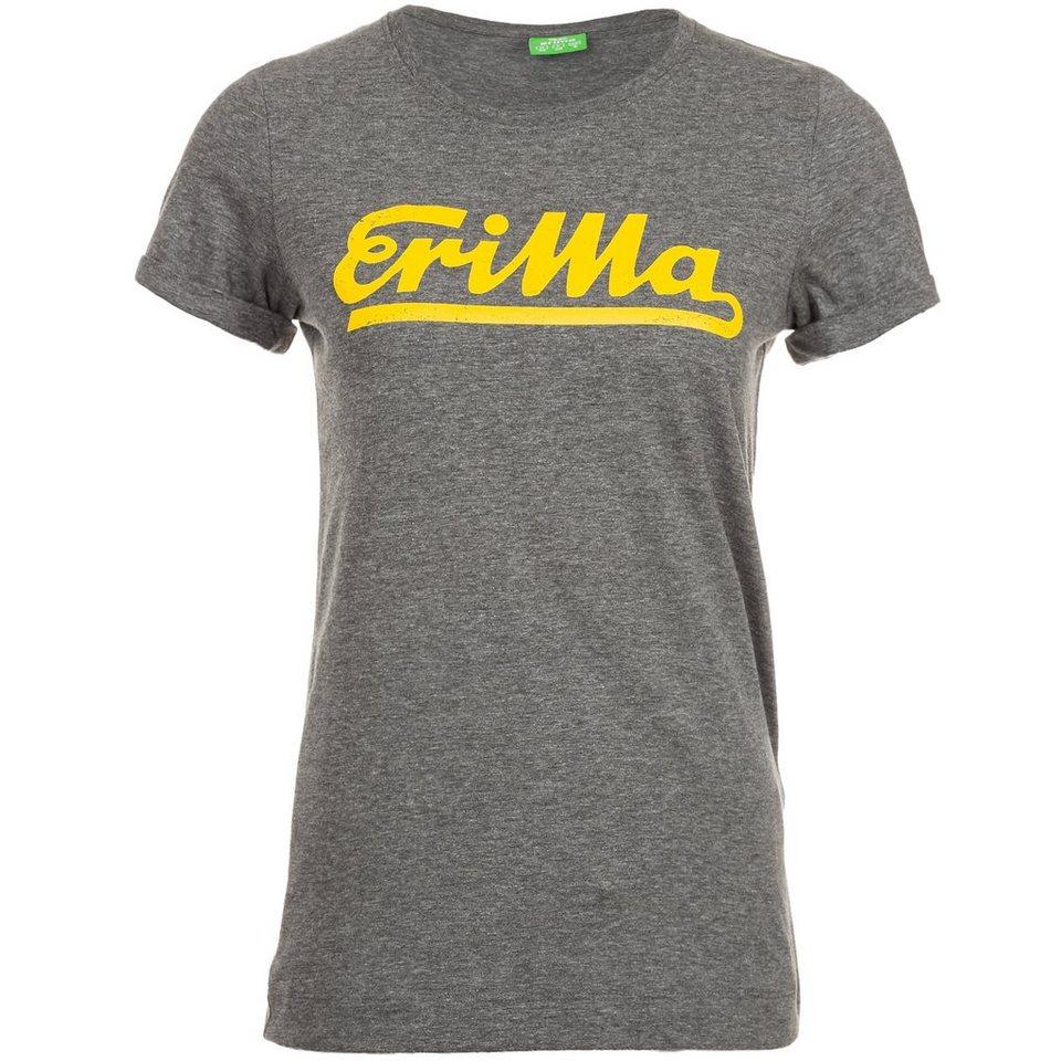 ERIMA Retro T-Shirt Damen in grau melange/gelb