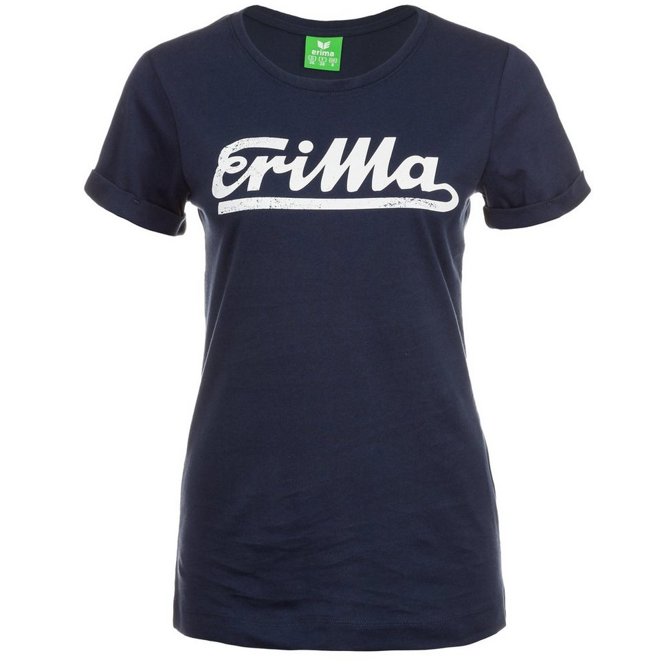 ERIMA Retro T-Shirt Damen in new navy/weiß