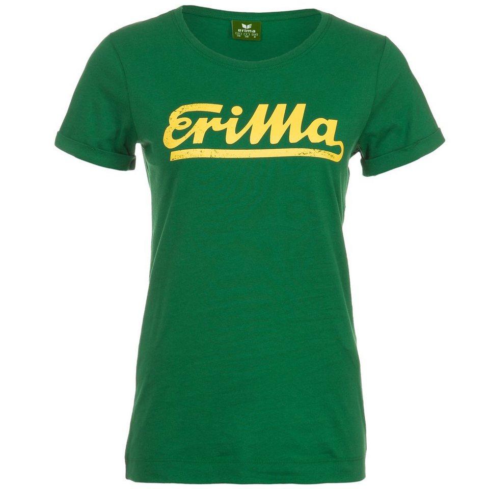 ERIMA Retro T-Shirt Damen in smaragd/gelb