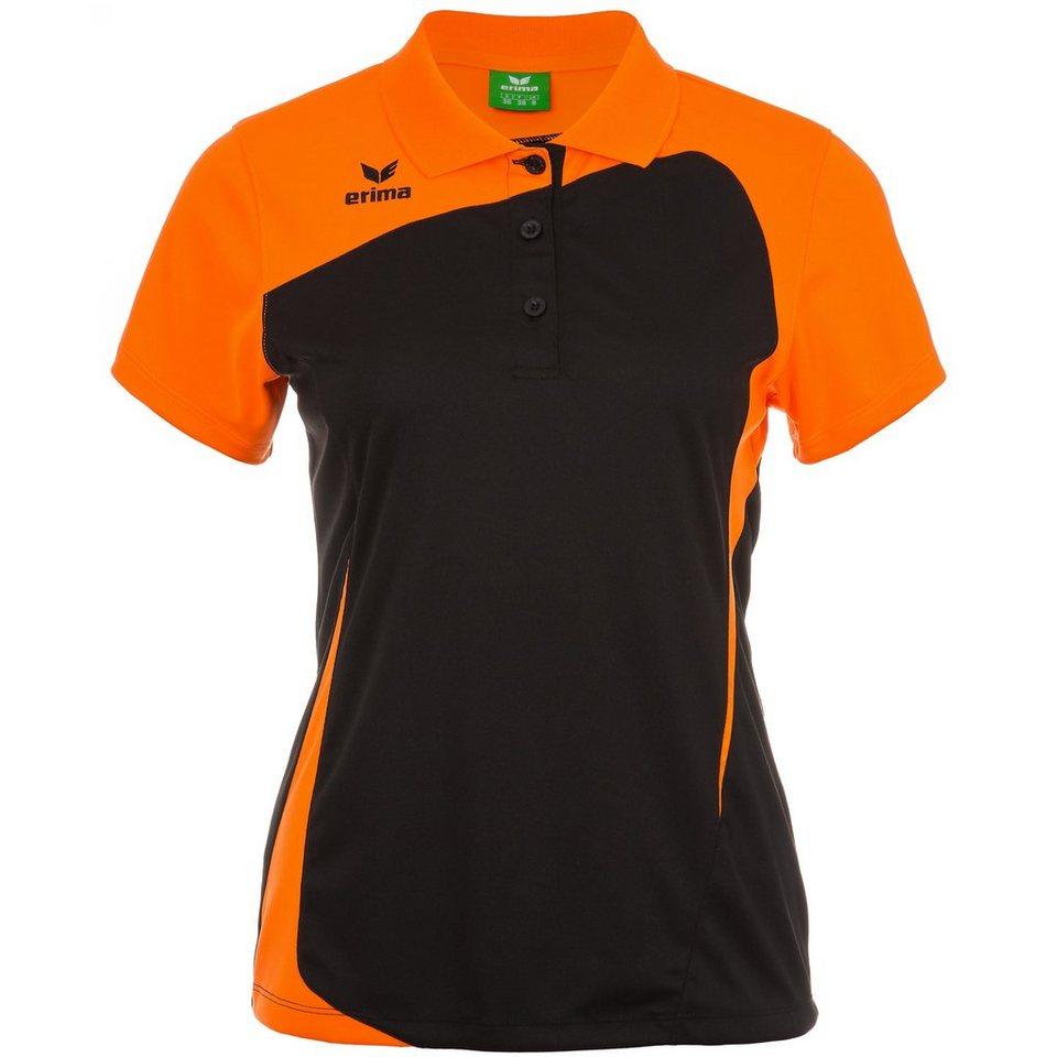 ERIMA CLUB 1900 Poloshirt Damen in schwarz/neon orange