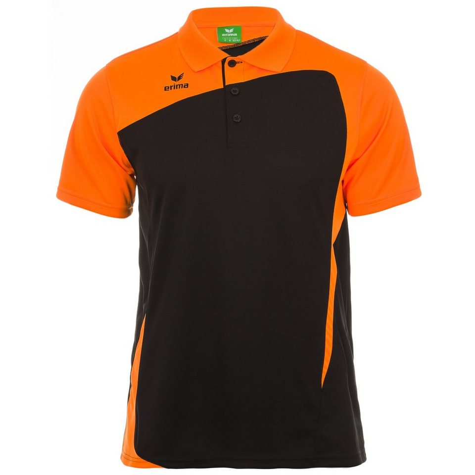 ERIMA CLUB 1900 Poloshirt Herren in schwarz/neon orange
