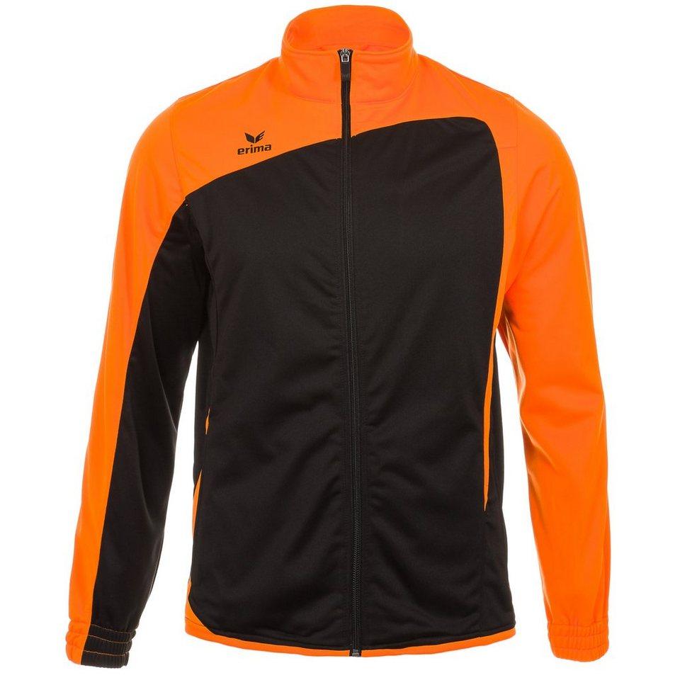 ERIMA CLUB 1900 Polyesterjacke Herren in schwarz/neon orange