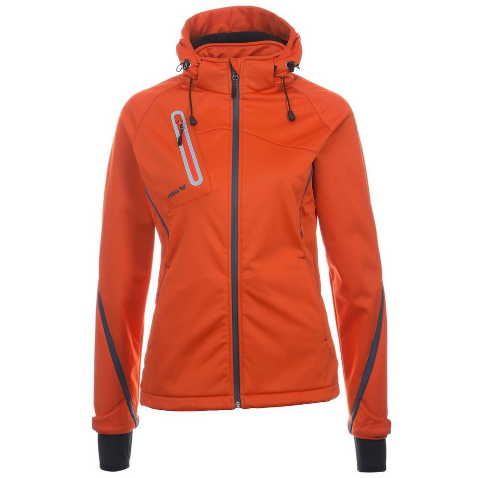 ERIMA Softshell Jacke Function Damen in karminrot/grau