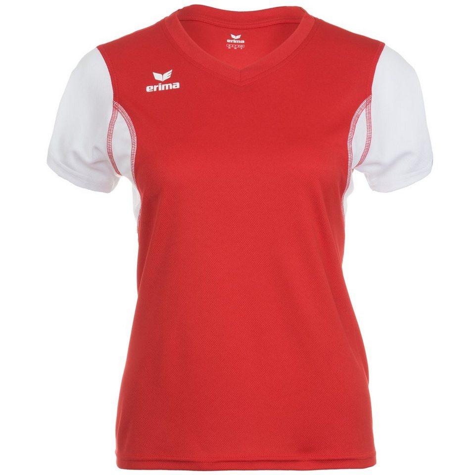 ERIMA T-Shirt Damen in rot/weiß