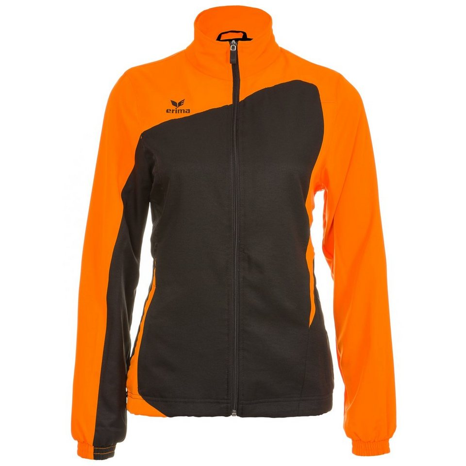 ERIMA CLUB 1900 Präsentationsjacke Damen in schwarz/neon orange