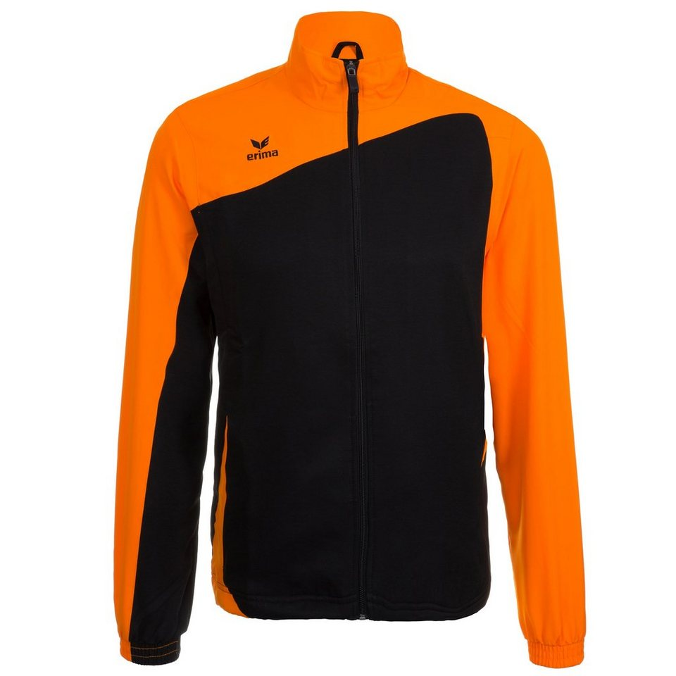 ERIMA CLUB 1900 Präsentationsjacke Kinder in schwarz/neon orange