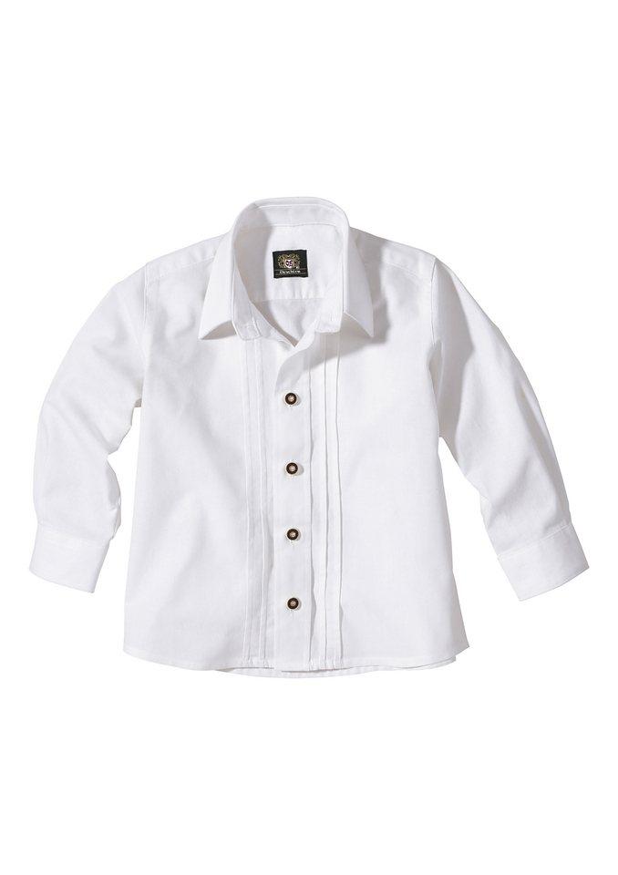 Kinder Trachtenhemd, OS-Trachten in weiß