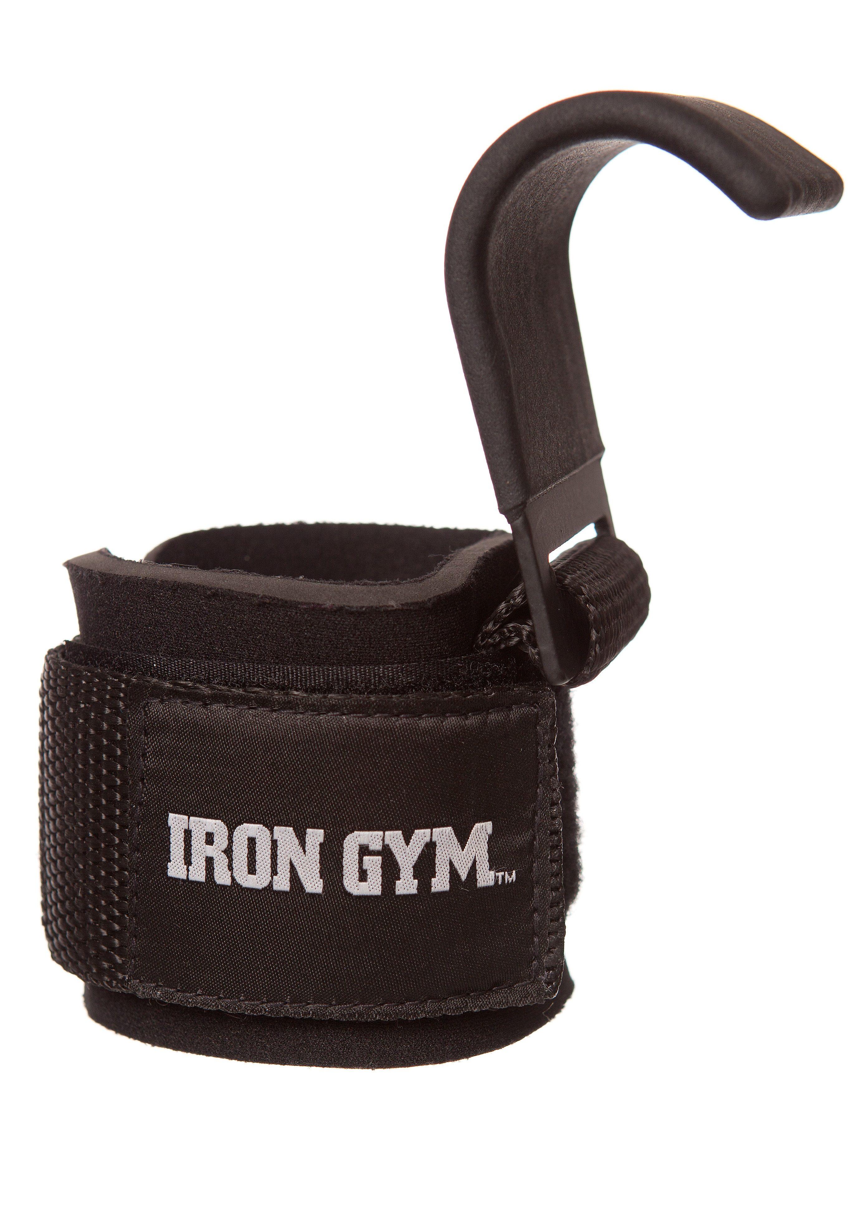 Fitness-Manschetten als Zughilfe mit Haken, »Iron Grip«, IRON GYM (2er Set)