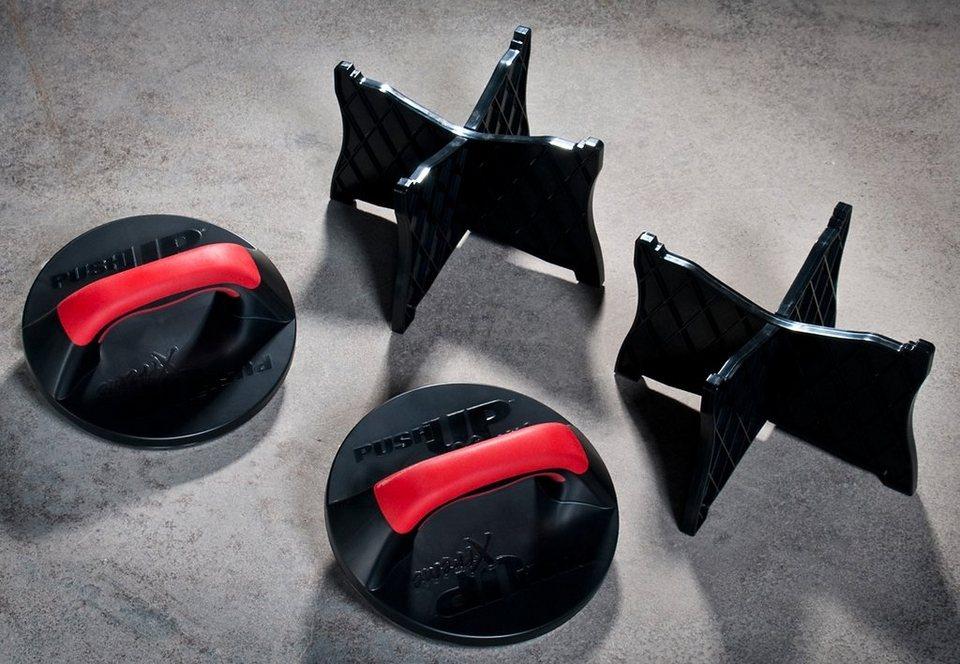 Liegestützgriff-Set, 3 in 1, »IRON GYM Push up Max«, IRON GYM in schwarz-rot