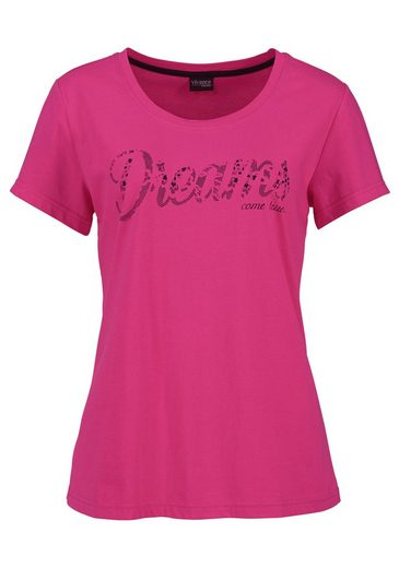 Vivance Dreams Pyjama-Set (3 Stück) mit Frontschriftzug